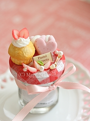 カップケーキのキャンディポット
