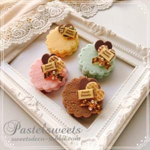 パステルスイーツ体験講座ミルクチョコクッキーチャーム
